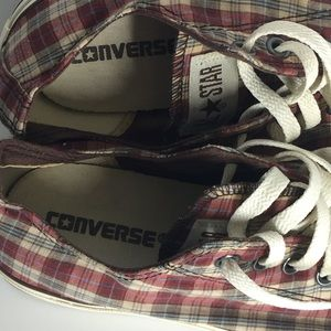 Converse Shoes - Converse Chuck All Star Plaid Low Top Sneakers